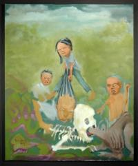 artists/Evans, Randolph/thumb/Evans, Randolph - Madame Sihanouk's Offspring and Their Nanny.jpg